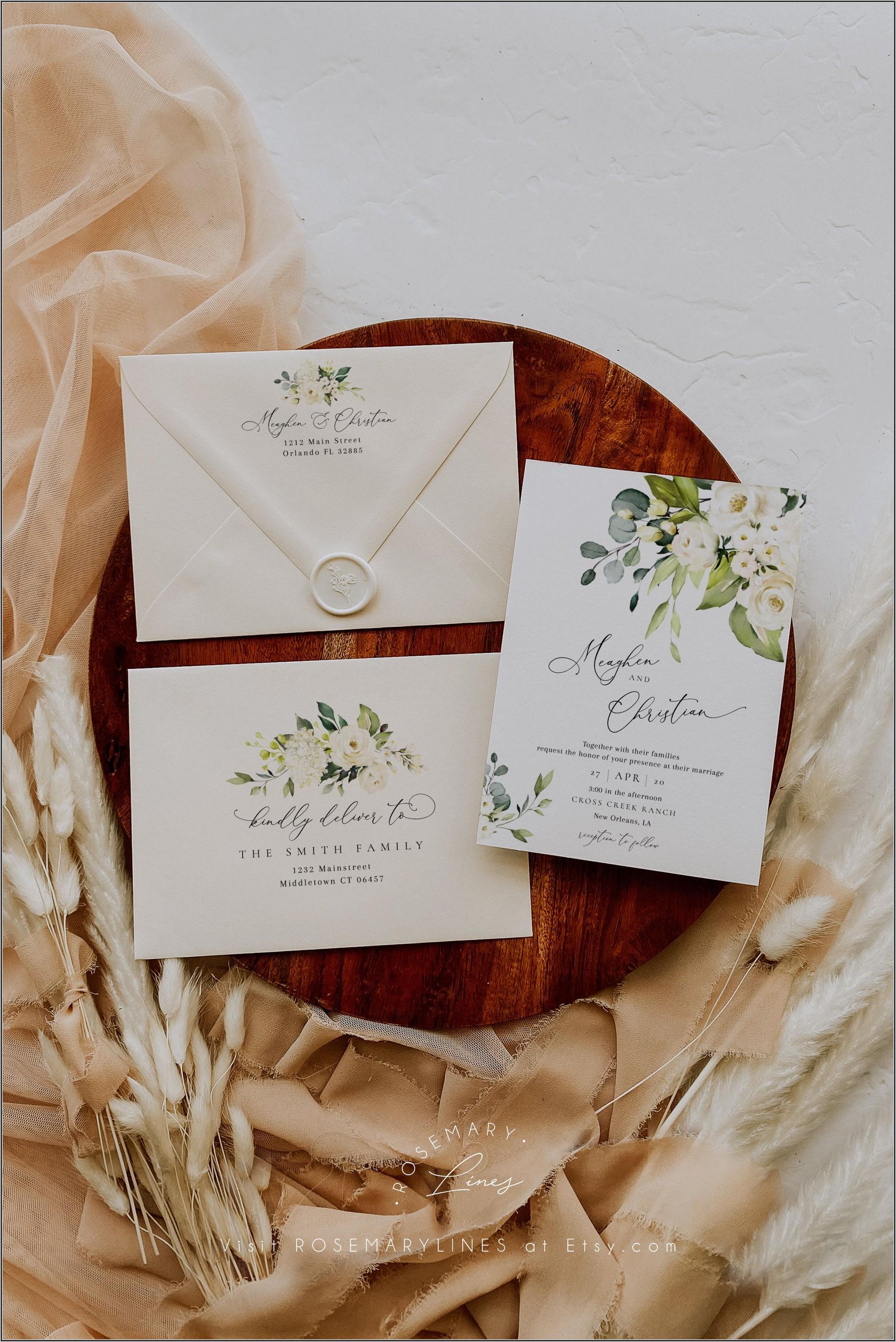 Wedding Invitation Envelope Address Template