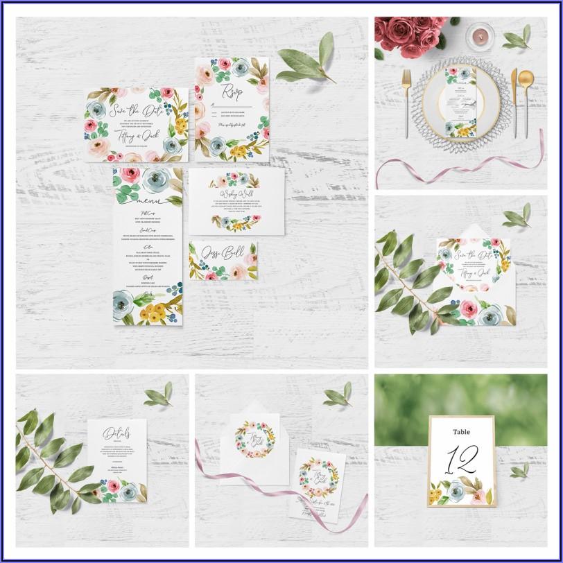 Wedding Invitation Mockup Free Download