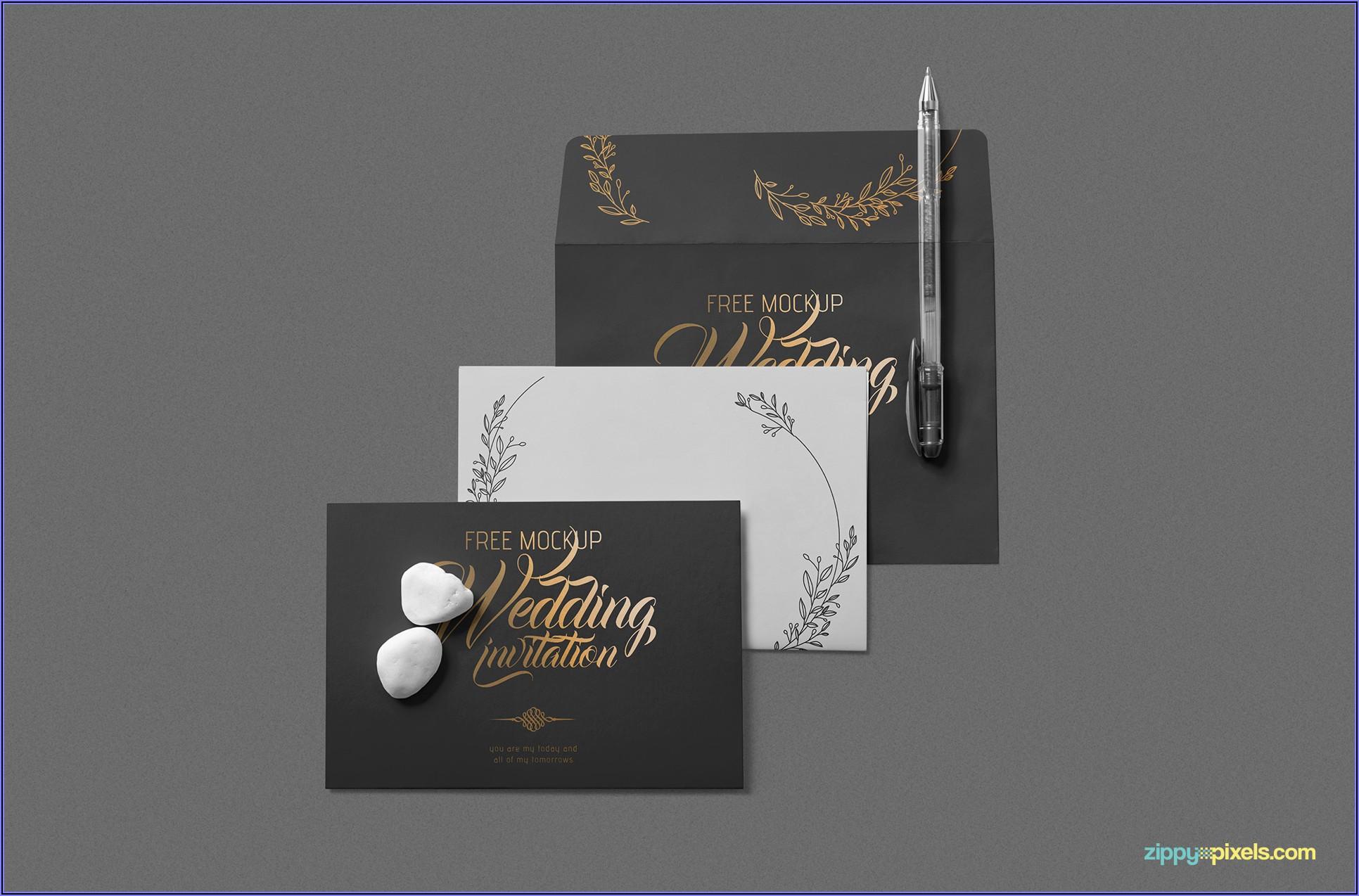 Wedding Invitation Mockup Free