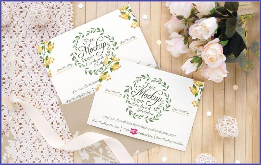 Wedding Invitations Mockup Free