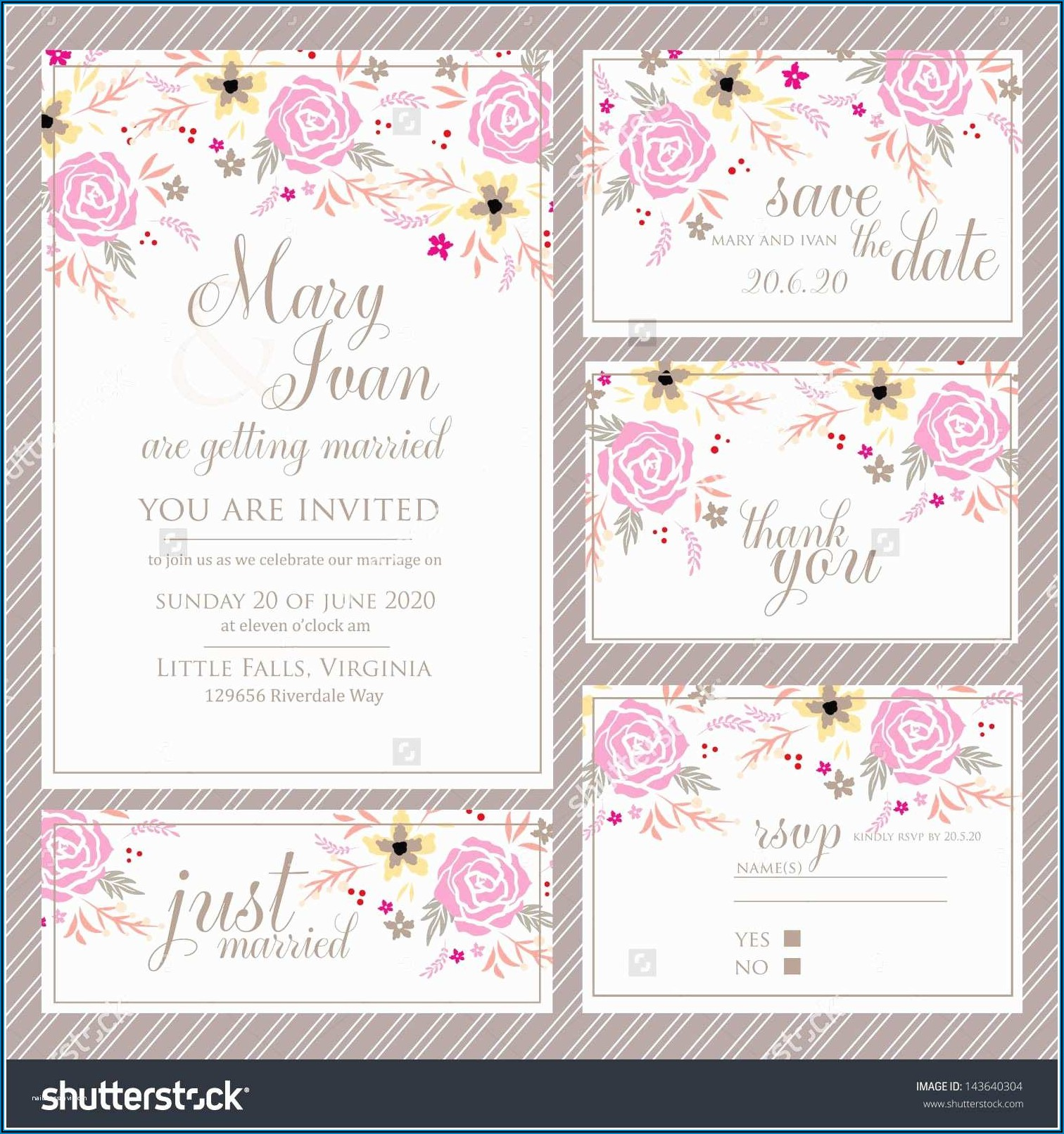 Wedding Invitations With Rsvp Cards Included Uk