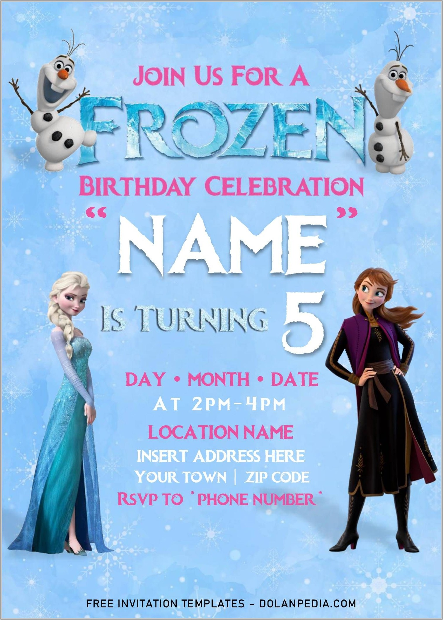 Word Templates For Birthday Invitations
