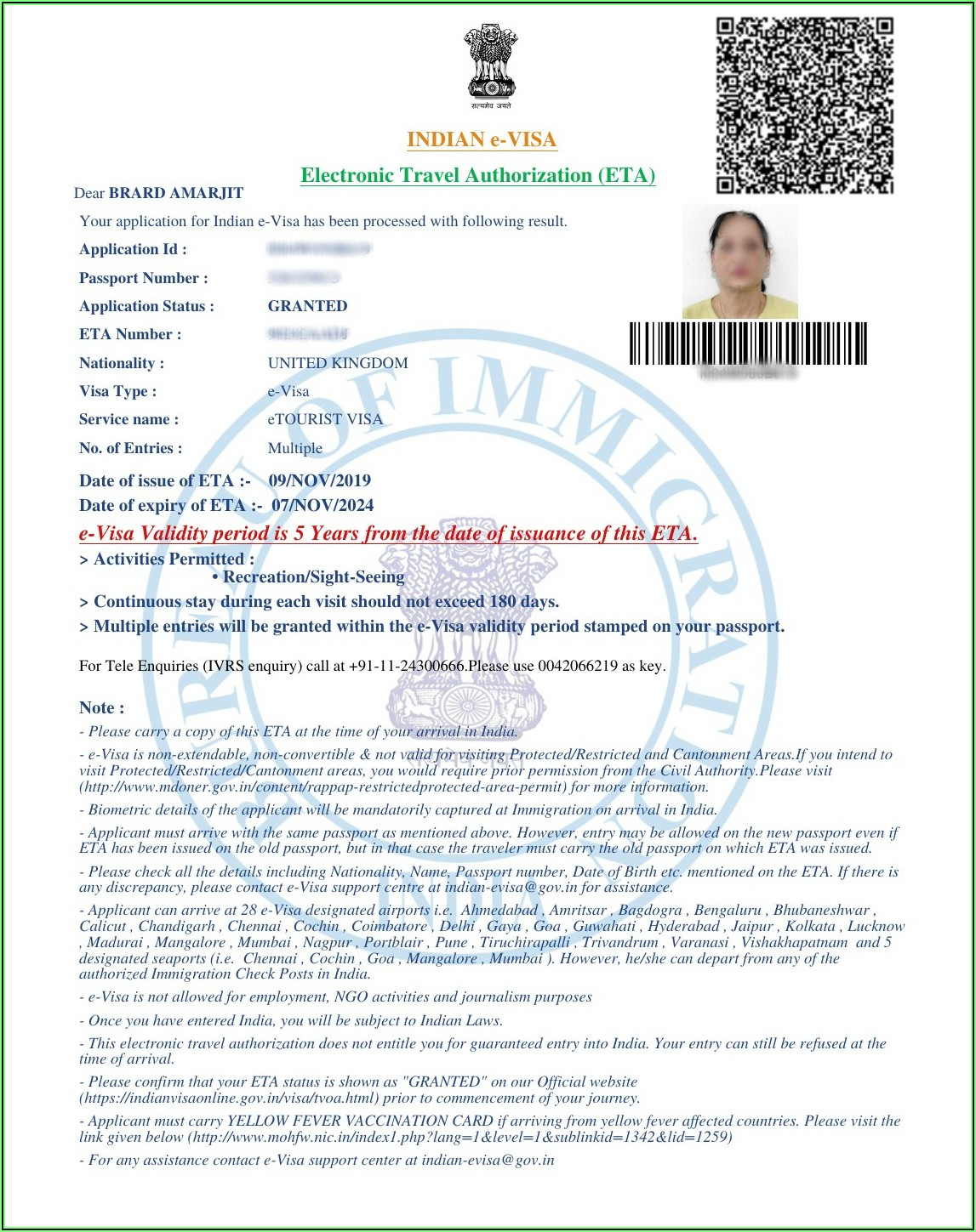 10 Year Indian Visa For Us Citizens Application Form