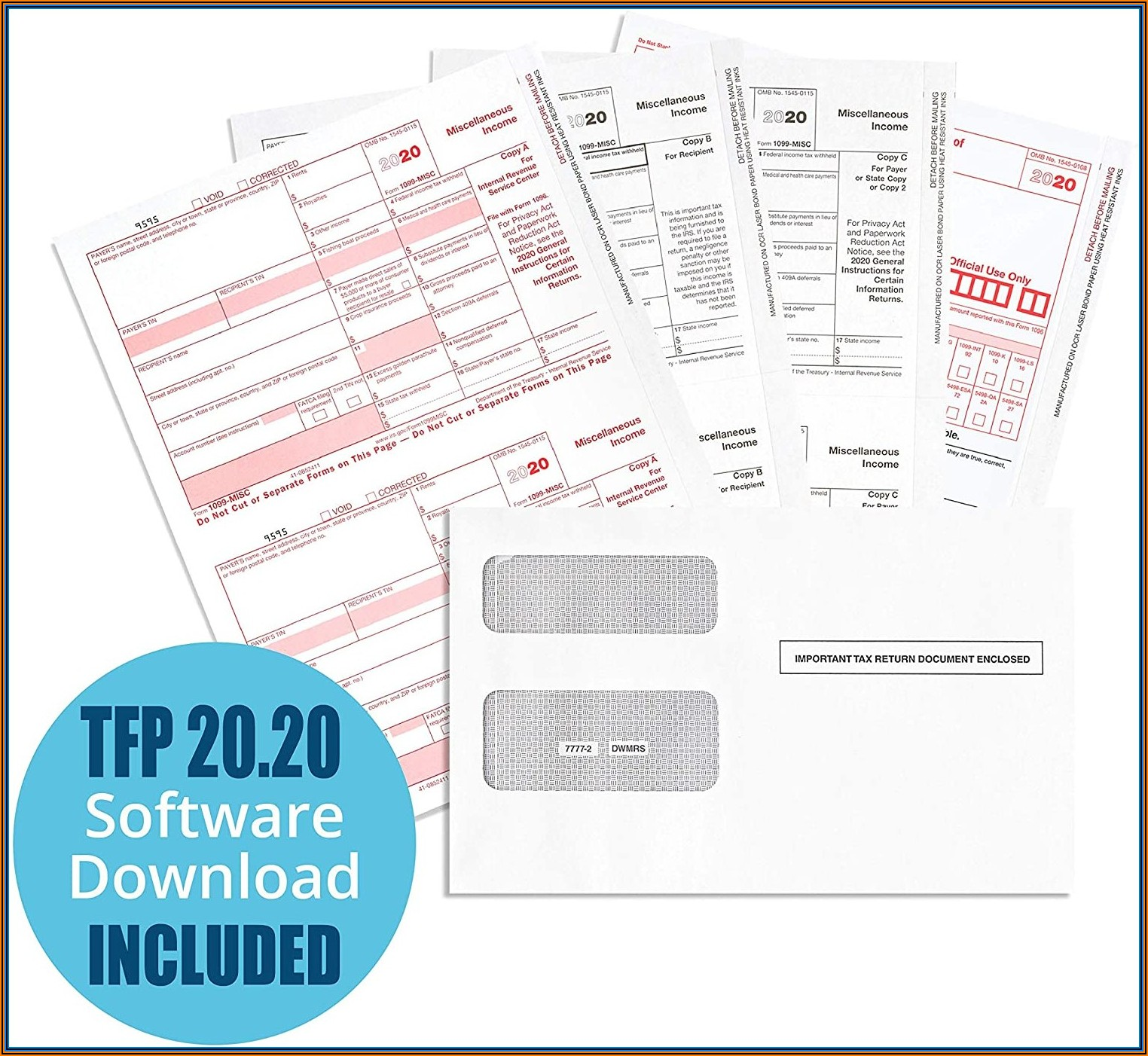 1099 Misc Laser Tax Forms And Software Set