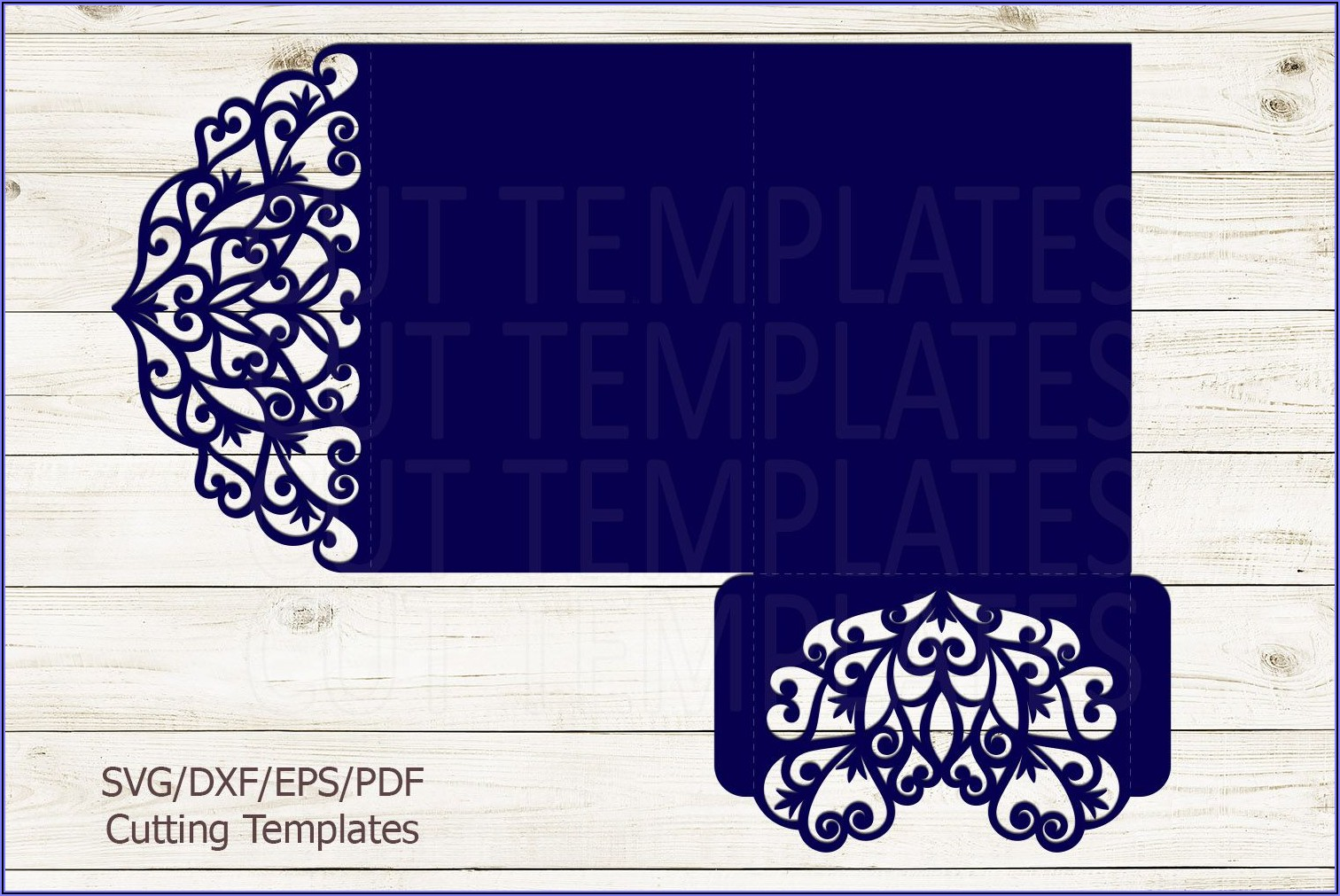 3 Fold Wedding Invitation Template