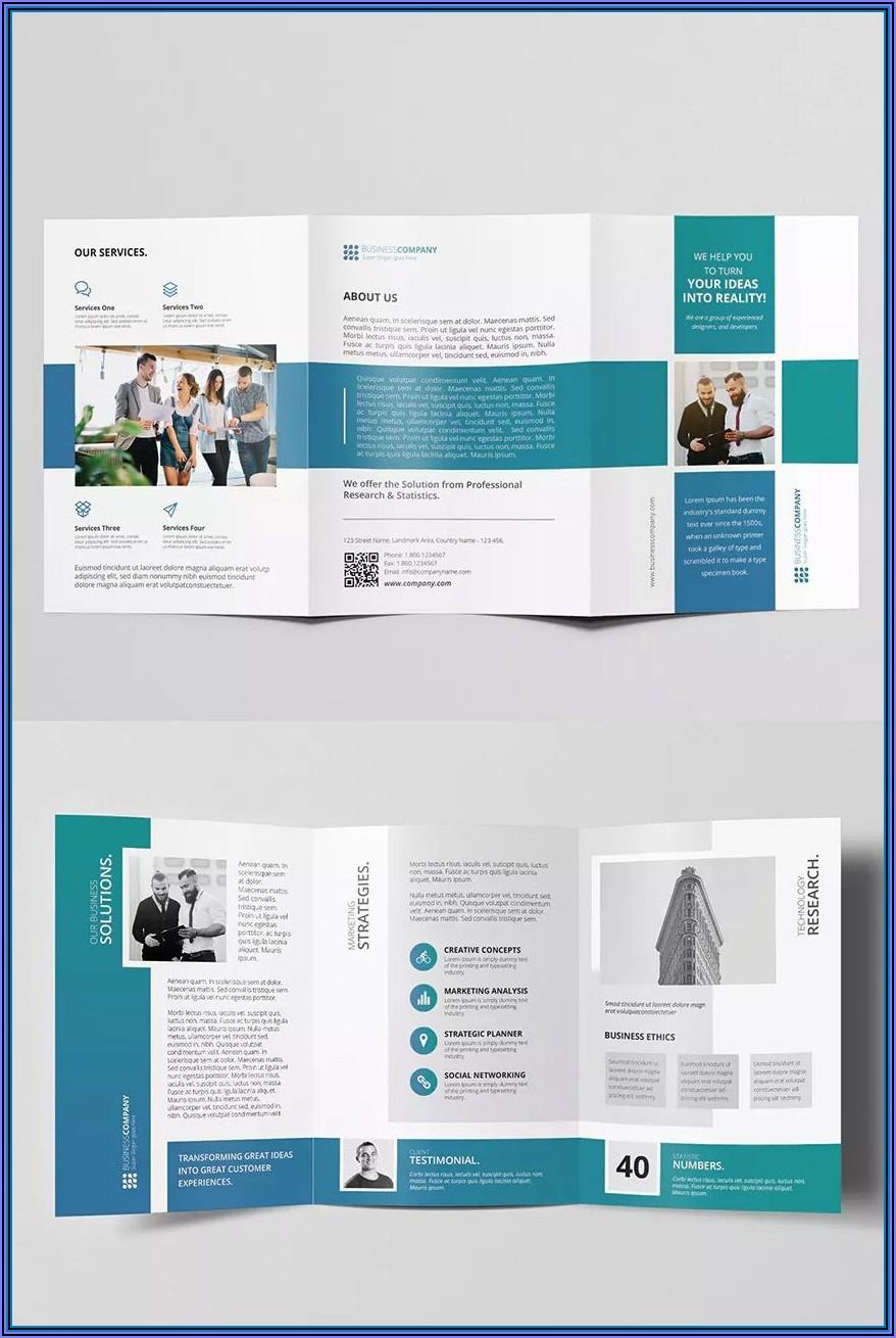 8.5 X 11 Bi Fold Brochure Template