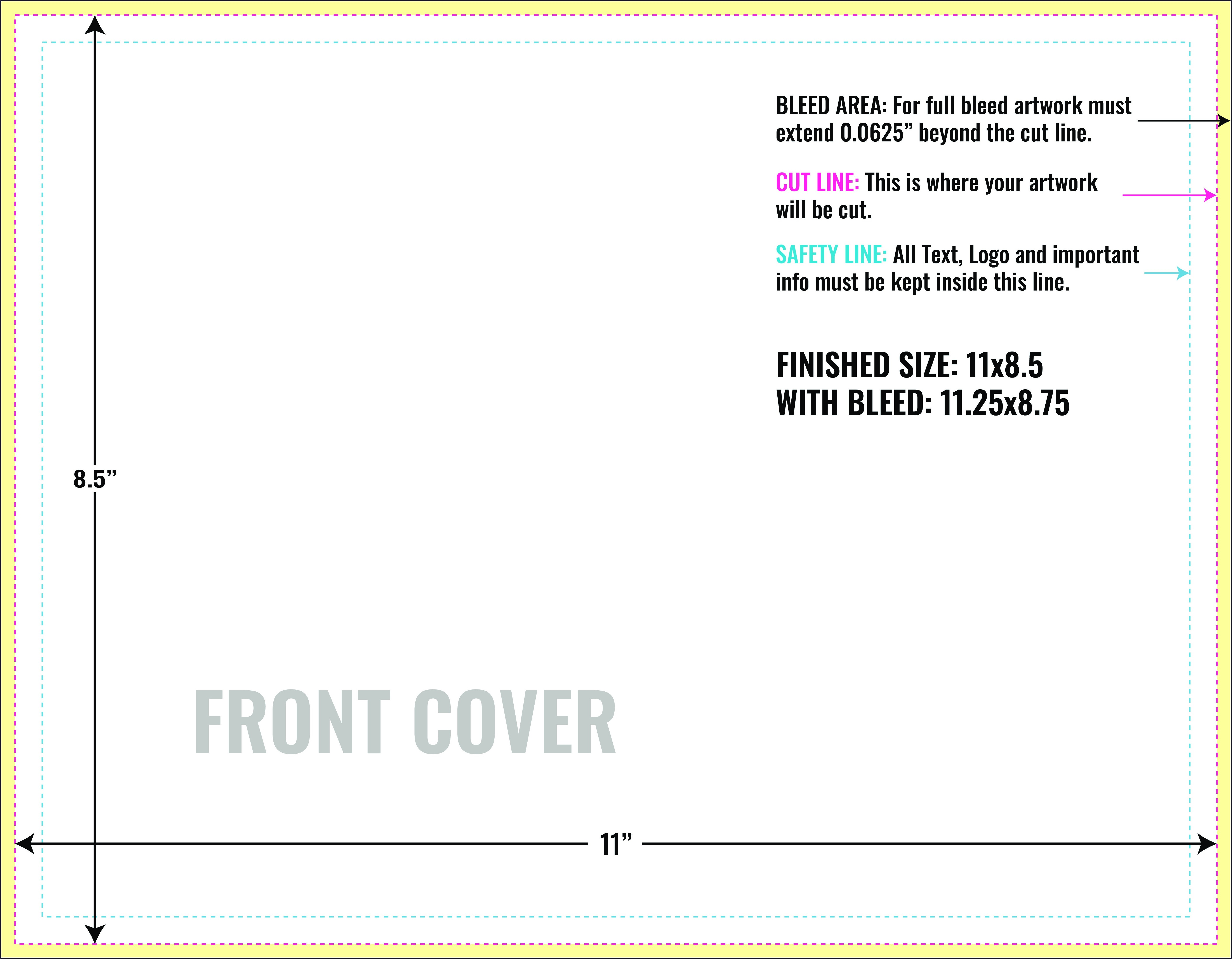 8.5 X 11 Booklet Template