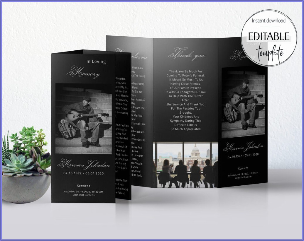8.5 X 11 Trifold Template