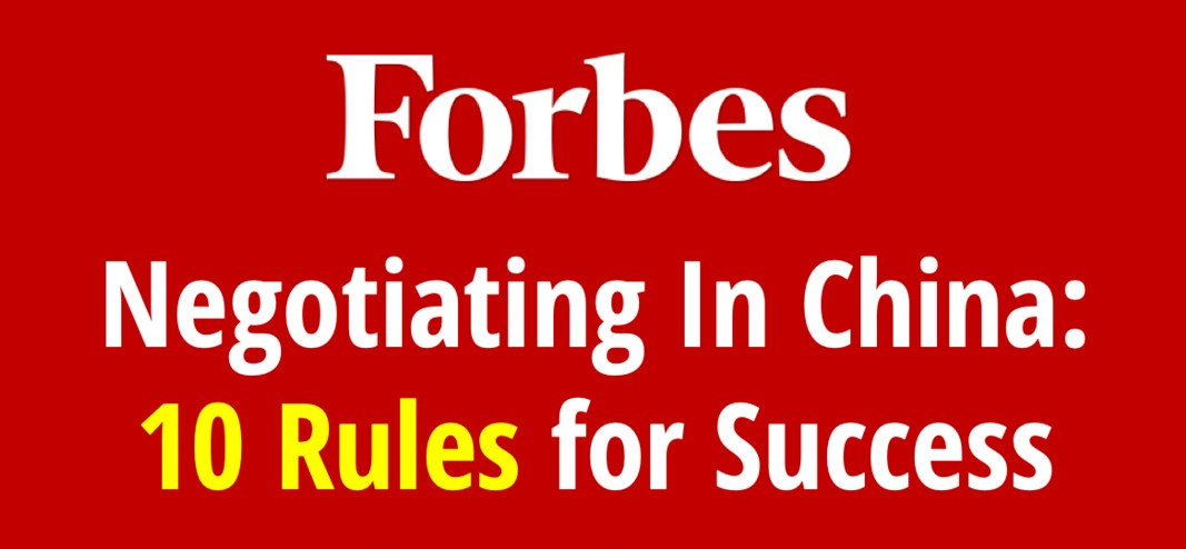 Negotiating In China 10 Rules For Success