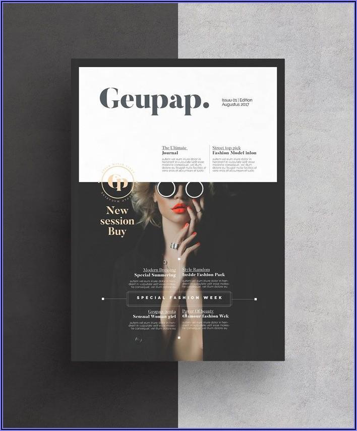 Adobe Indesign Magazine Layout Template