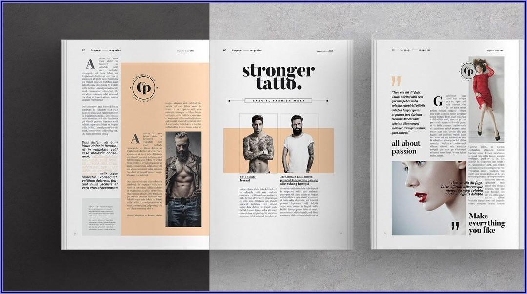 Adobe Indesign Magazine Layout
