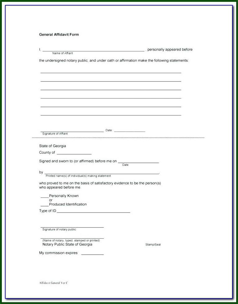 Affidavit Template South Africa Proof Of Residence Pdf