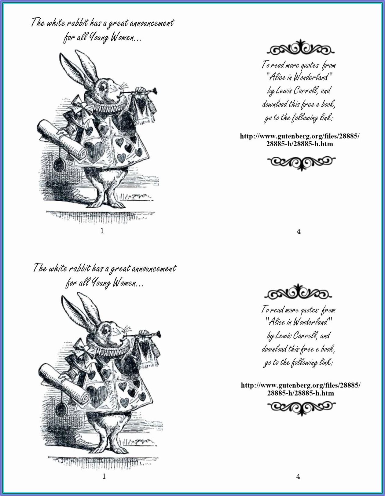 Alice Spine Labels Template