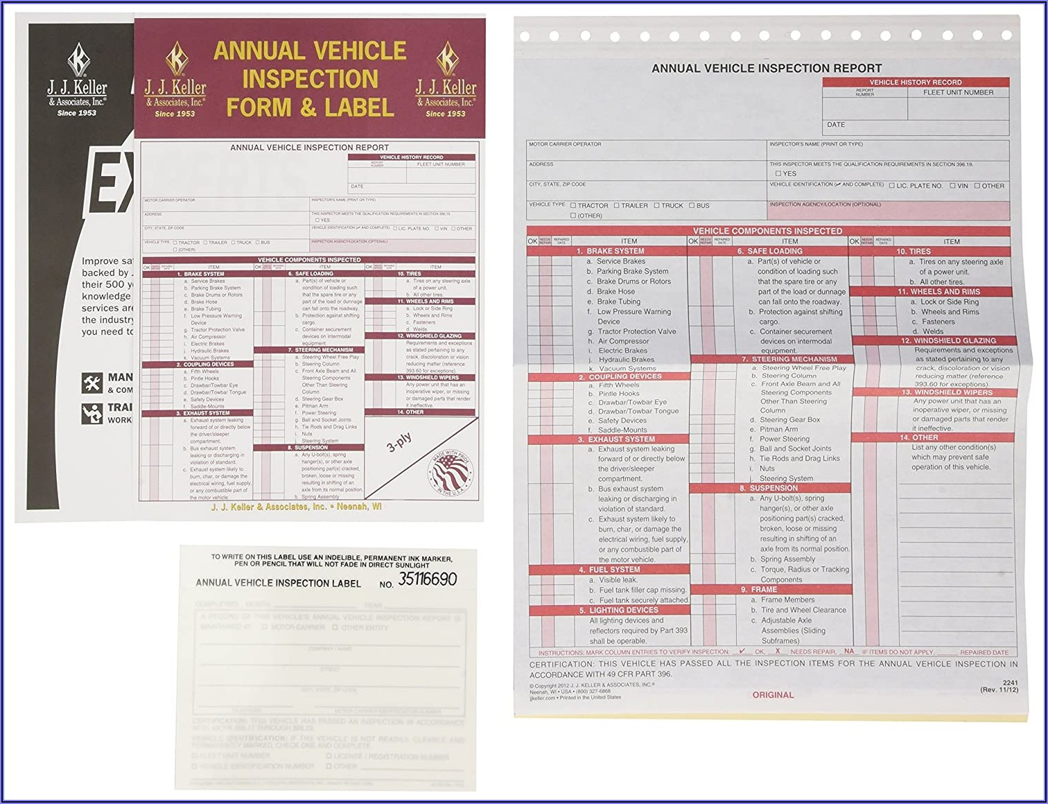 Annual Vehicle Inspection Report Forms