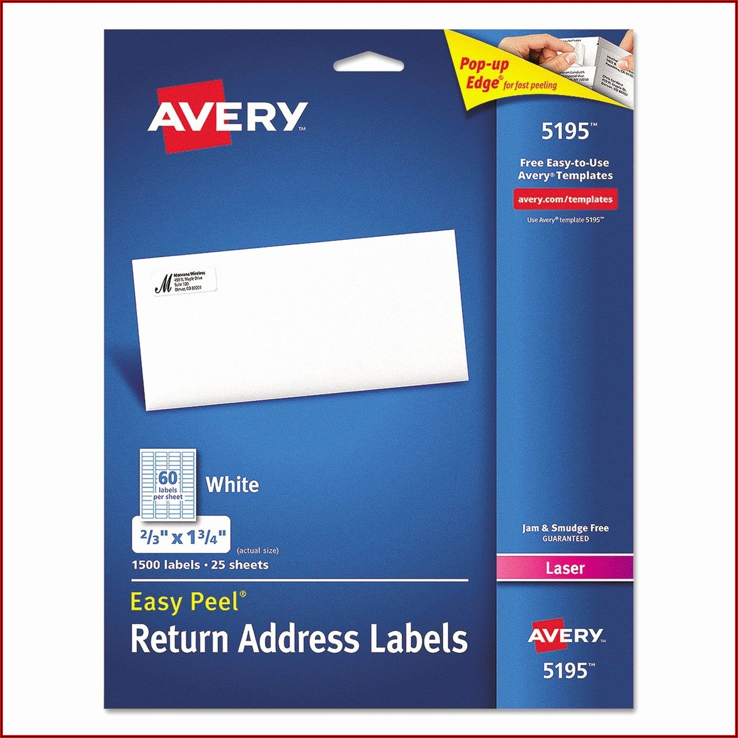 Avery Templates Return Address Labels 5195