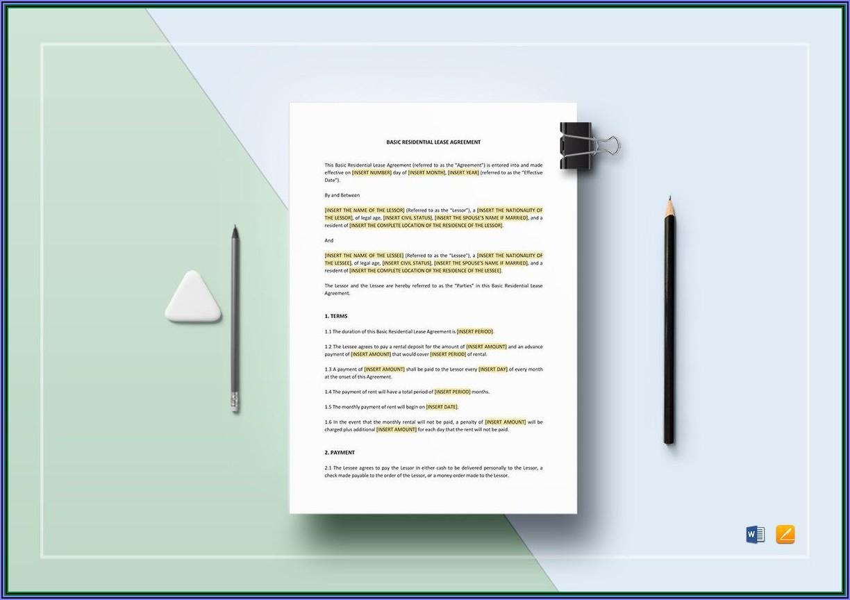 Basic Home Rental Lease Agreement