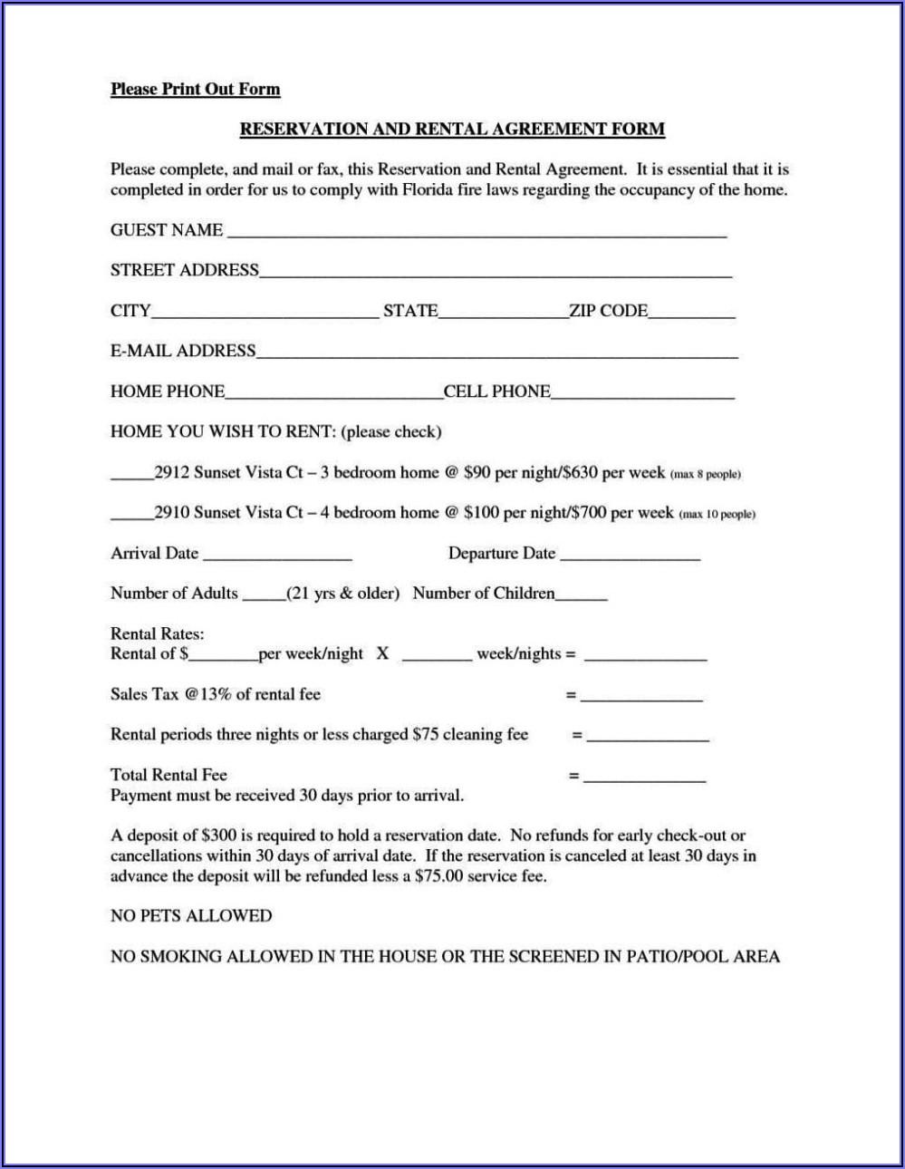 Basic House Rental Lease Agreement