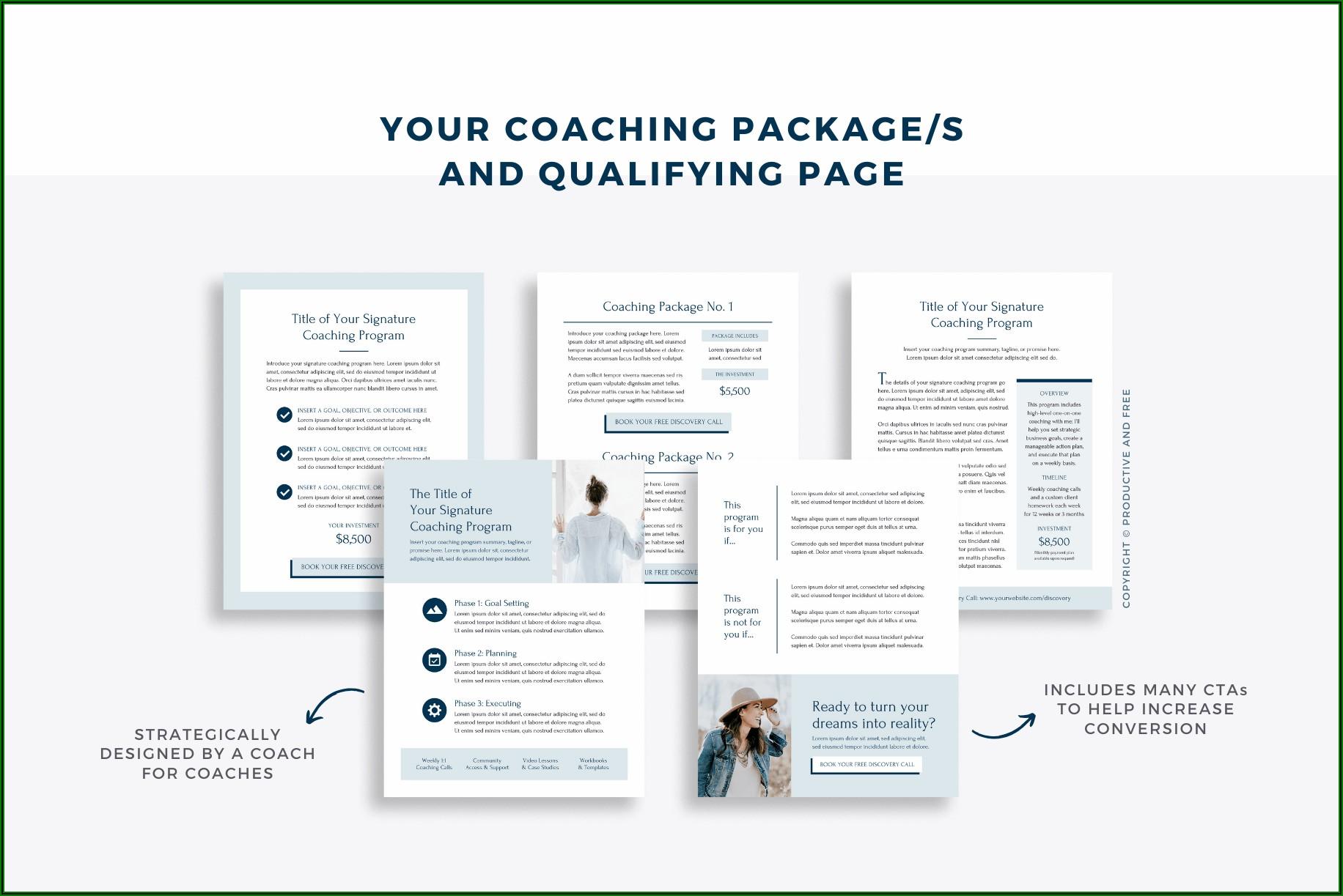 Basketball Coaching Portfolio Template