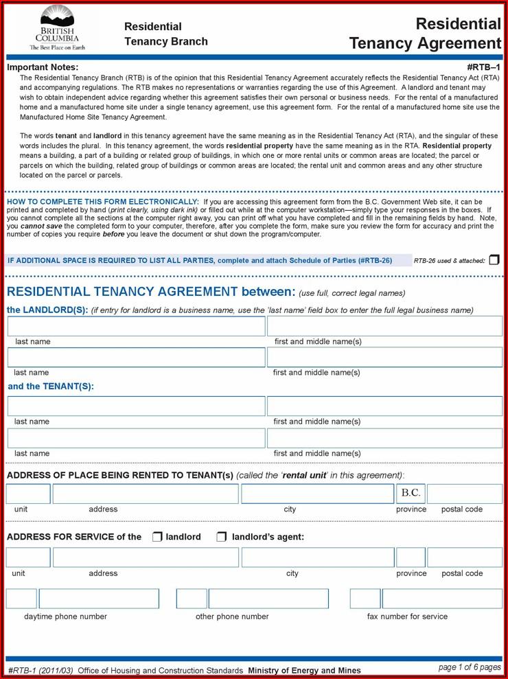 Bc Housing Rental Application Form