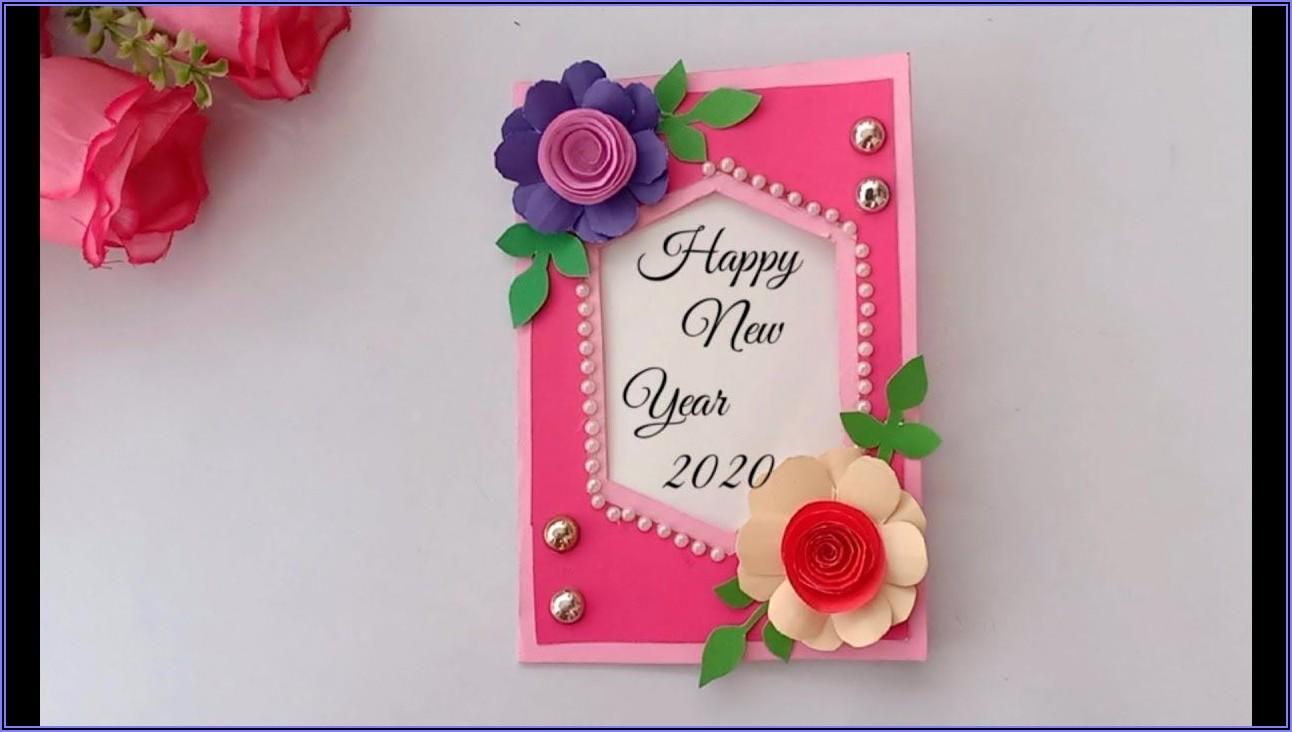 Beautiful New Year Greeting Card Designs Handmade