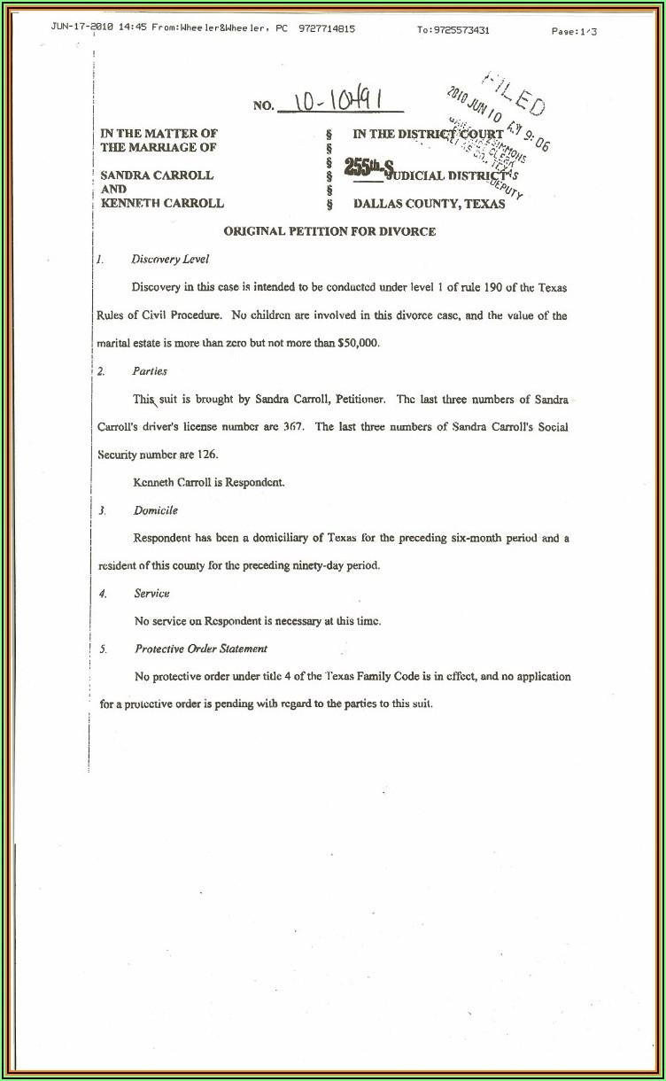 Bexar County Divorce Decree Form