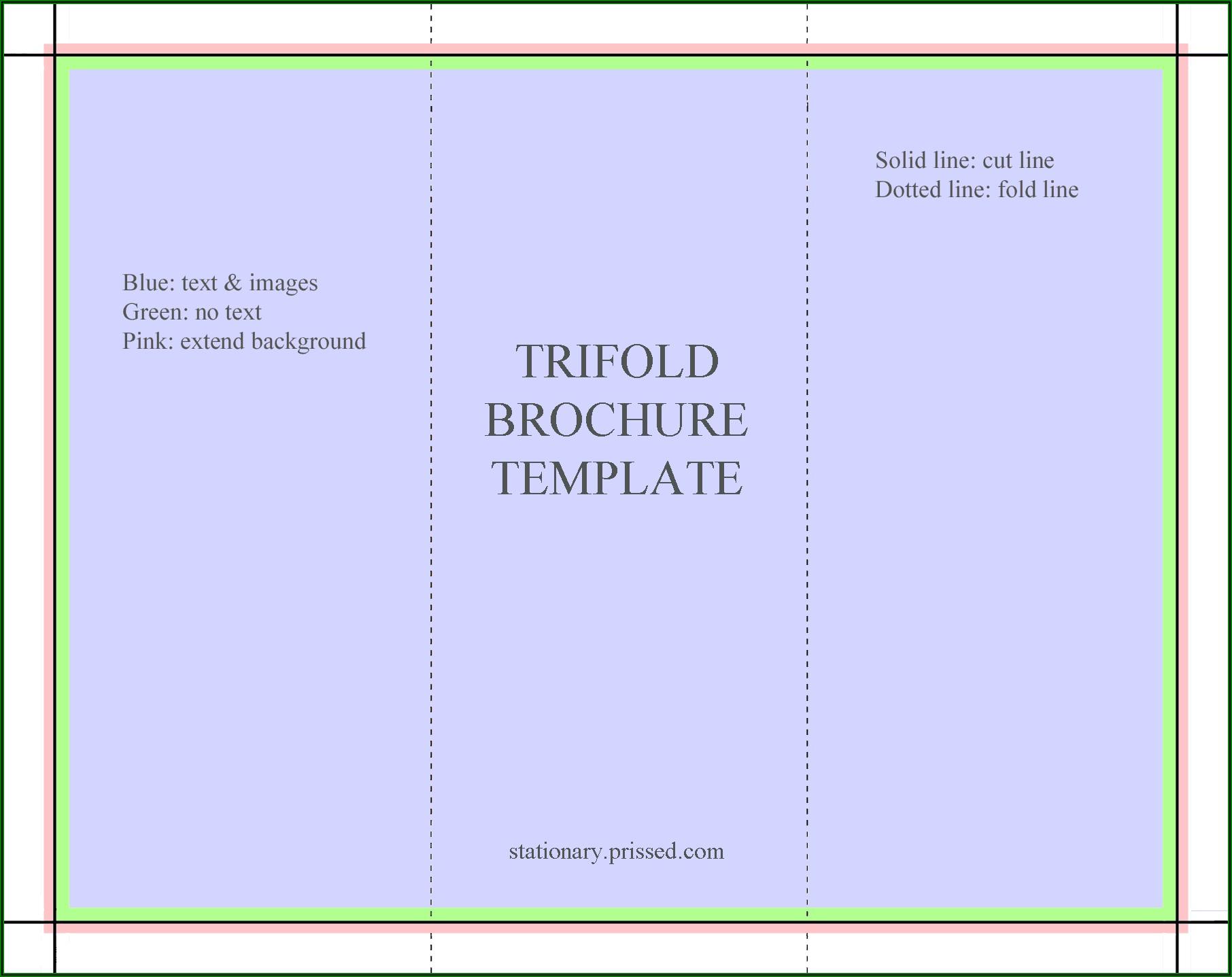 Bi Fold Brochure Template Free Download Microsoft Word