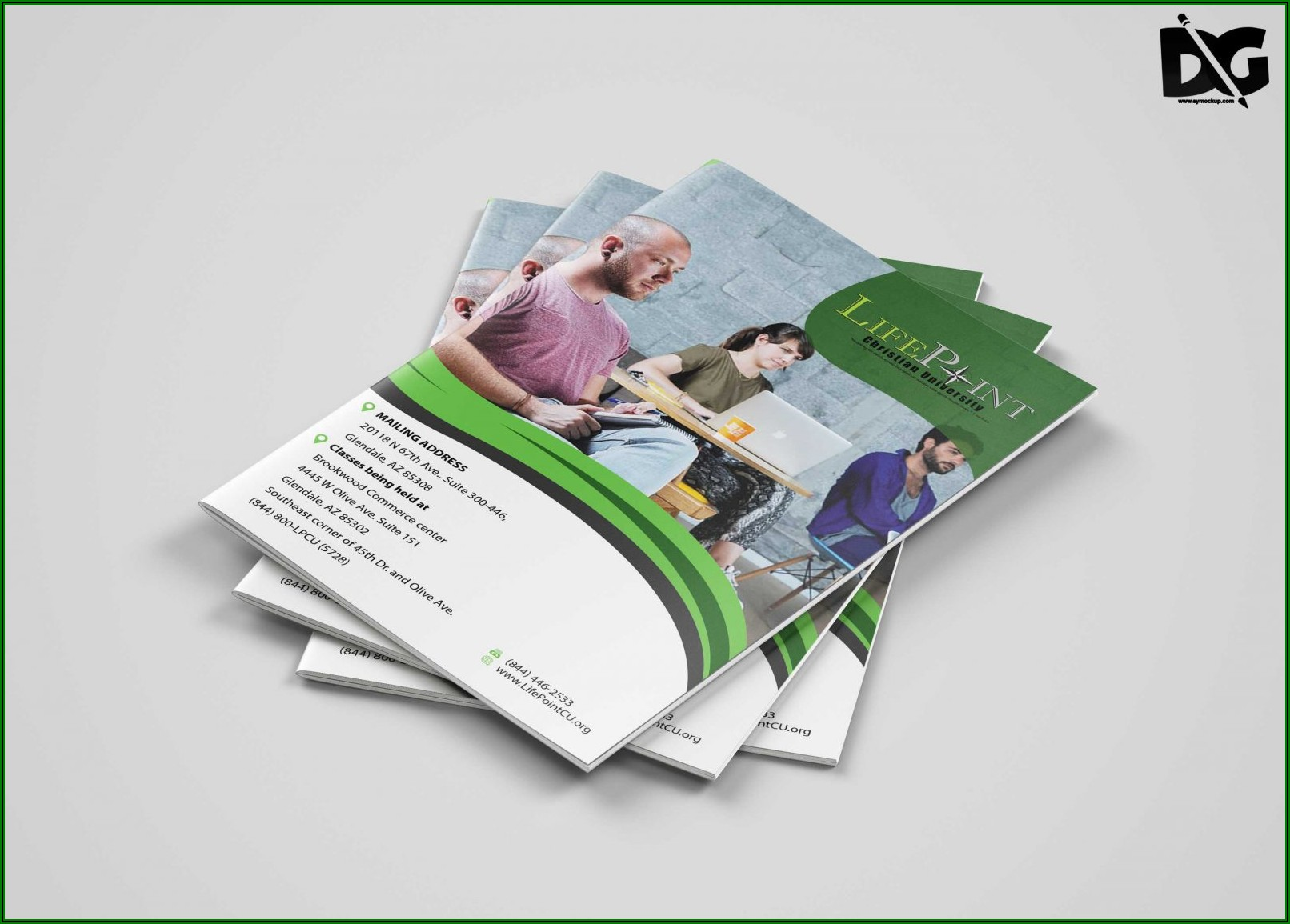 Bi Fold Brochure Template Psd Free Download