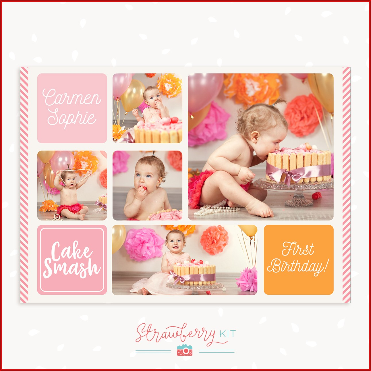 Birthday Photo Collage Template Free