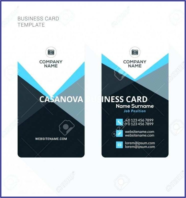 Blank Double Sided Business Card Template Word