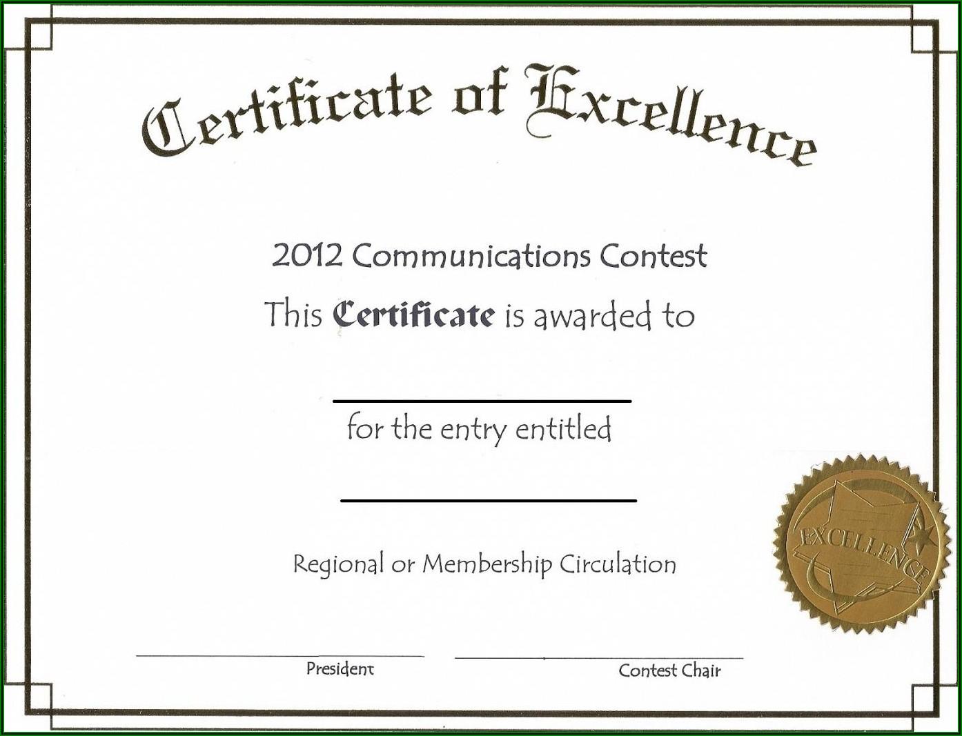 Blank Stock Certificate Template Free