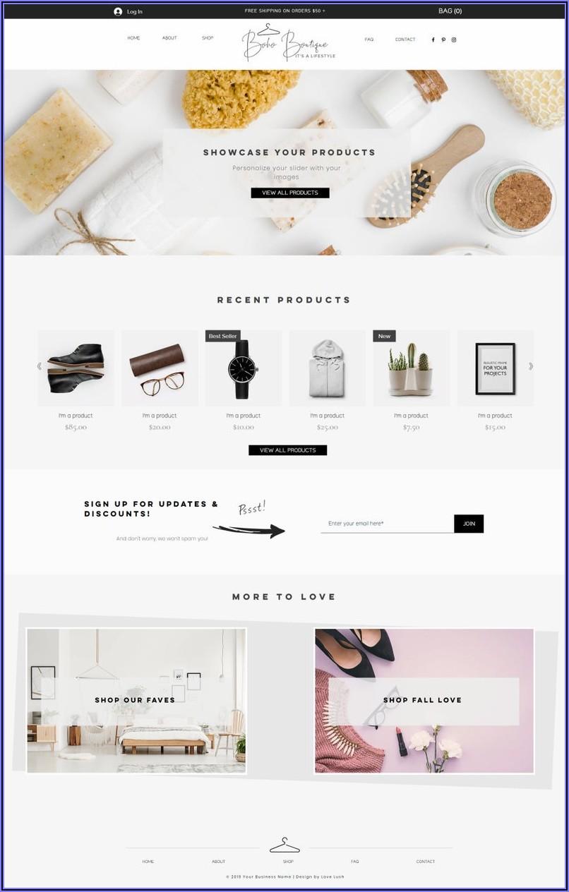Boutique Website Templates