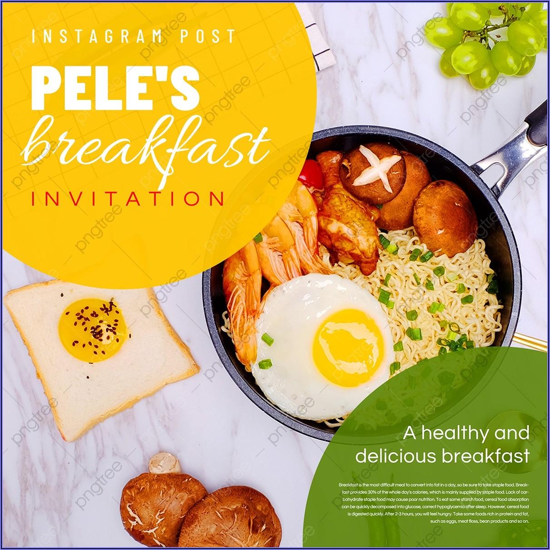 Breakfast Invitation Card Template