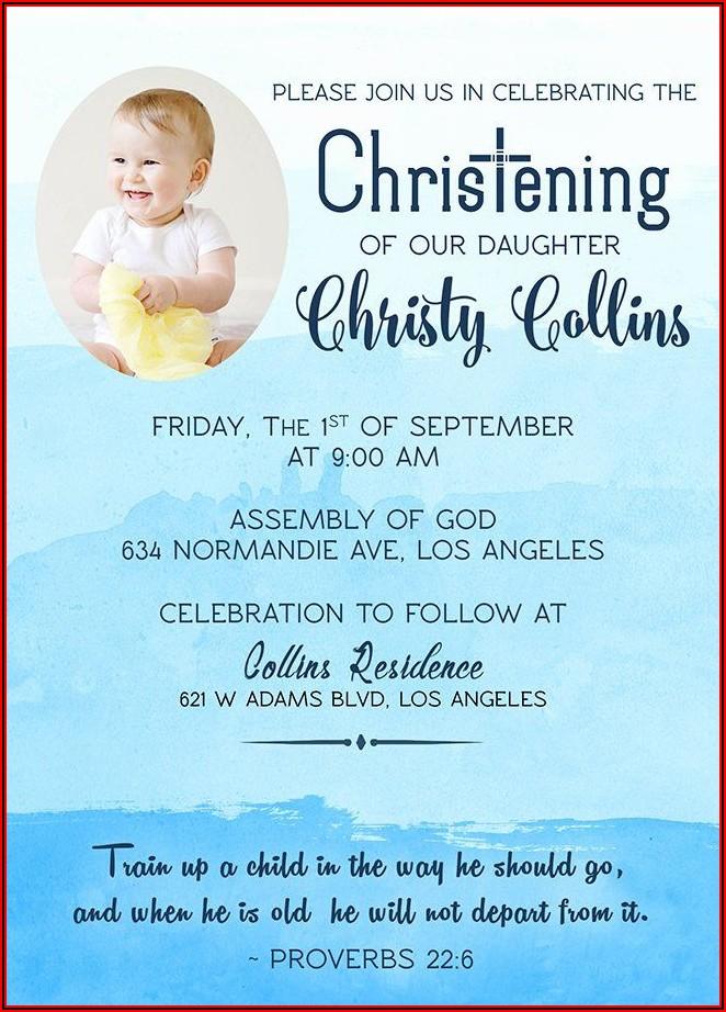 Child Christening Invitation Template