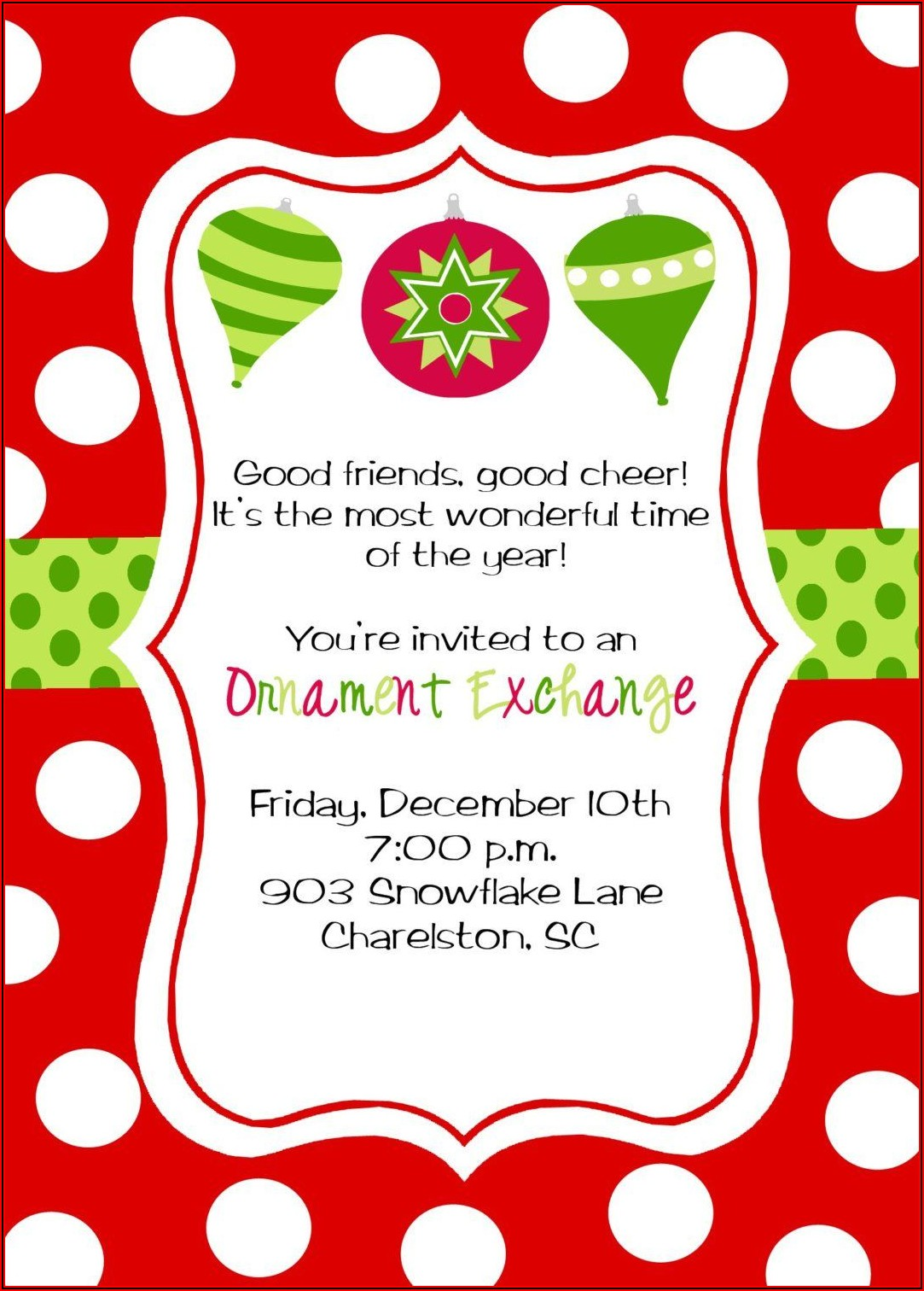 Children's Christmas Invitation Templates