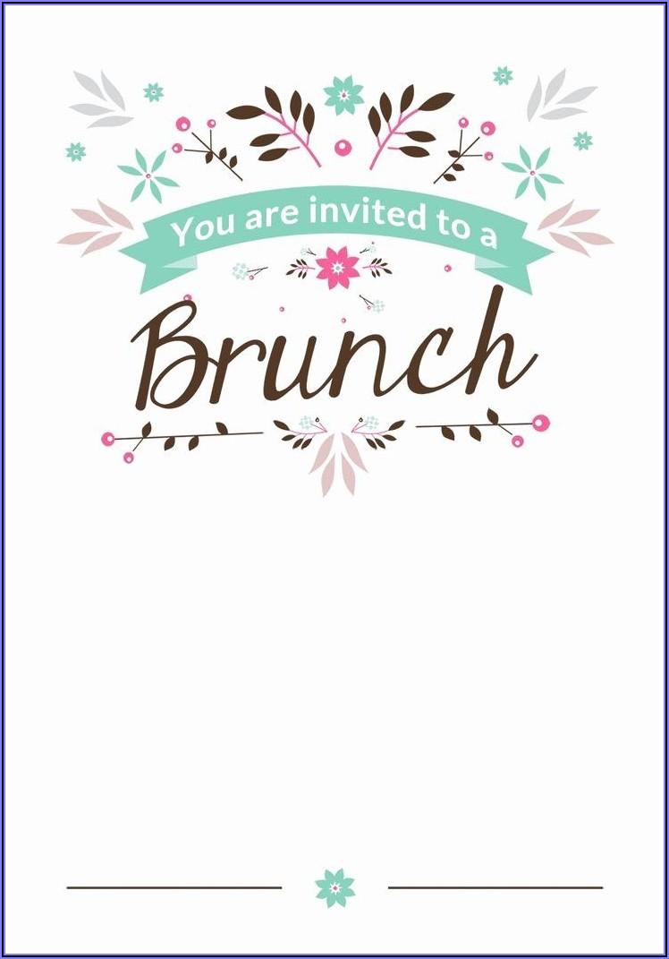 Christmas Breakfast Invitation Template