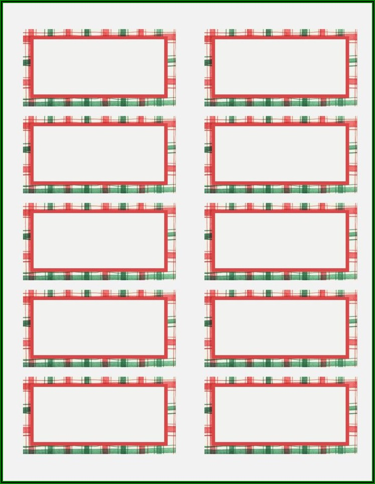 Christmas Return Address Labels Templates