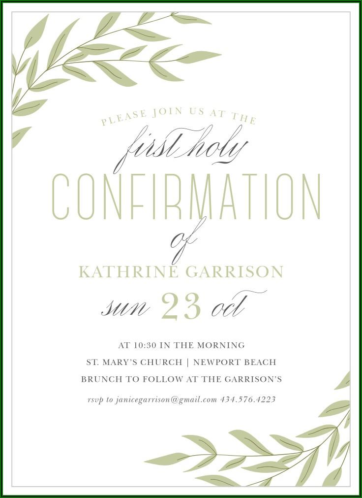 Confirmation Invitation Template Word