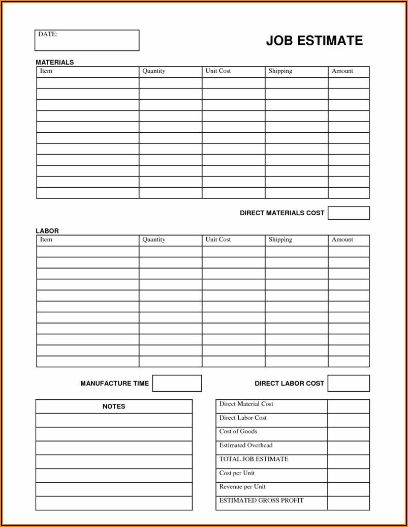 Construction Punch List Form