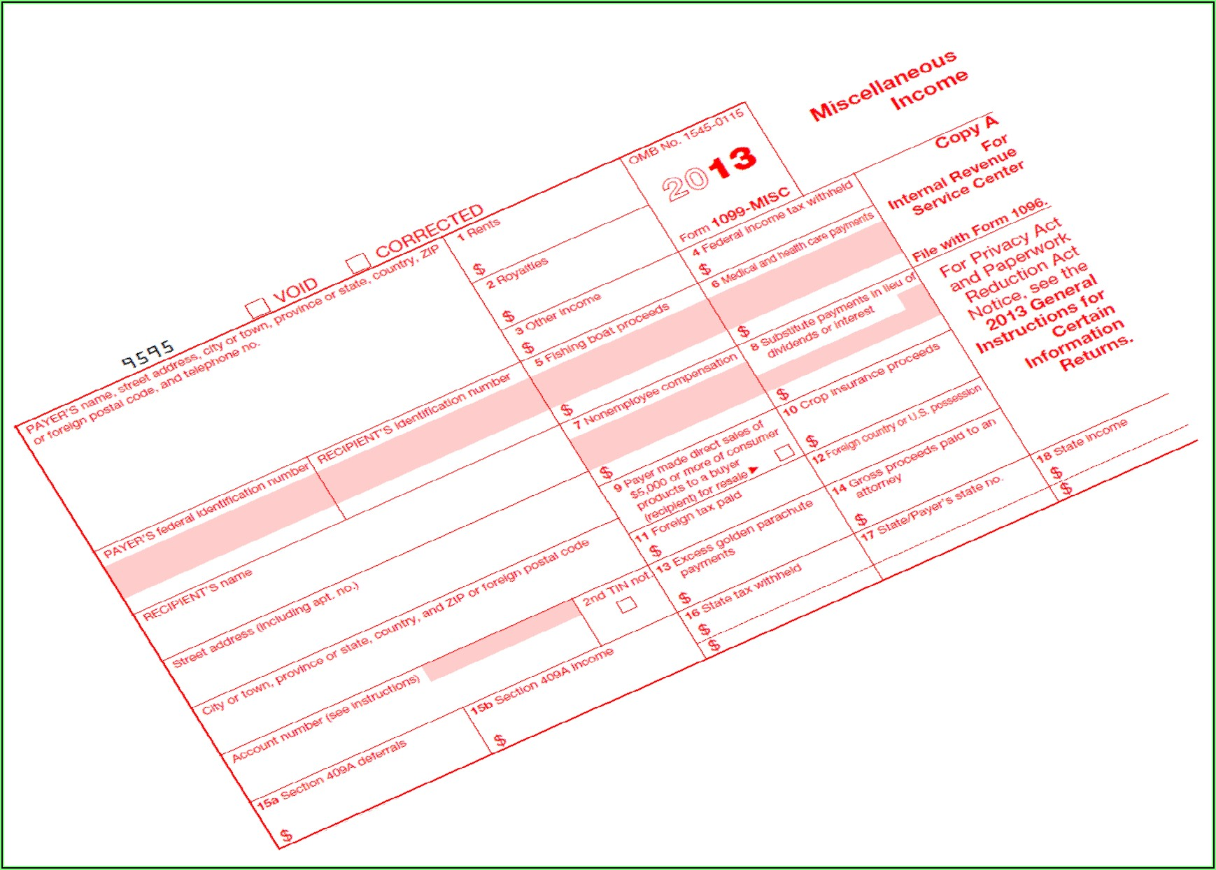 Correct Errors On Forms 1099 Misc