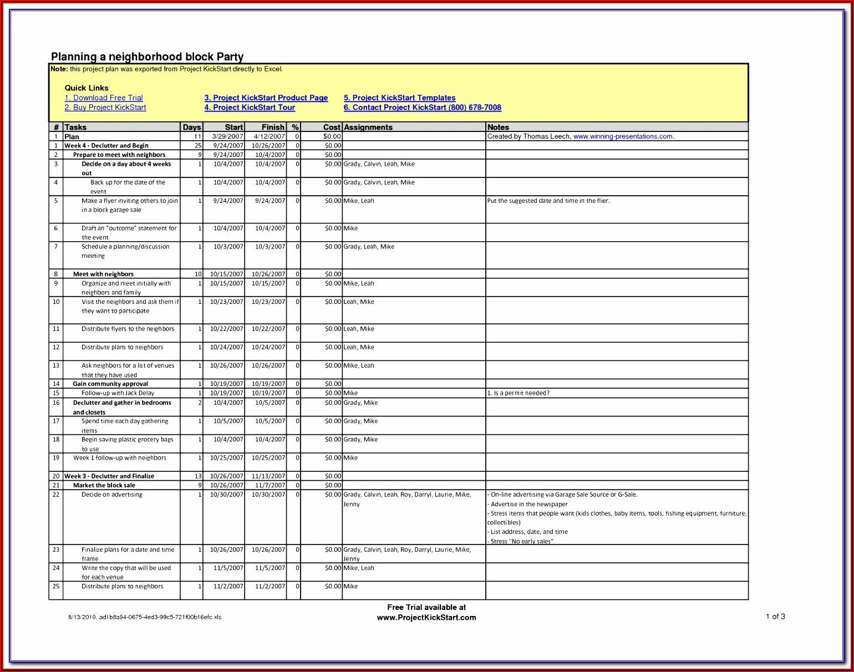Critical Path Schedule Excel