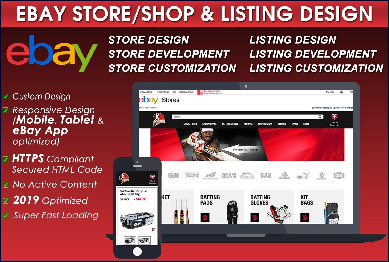 Custom Ebay Store Template