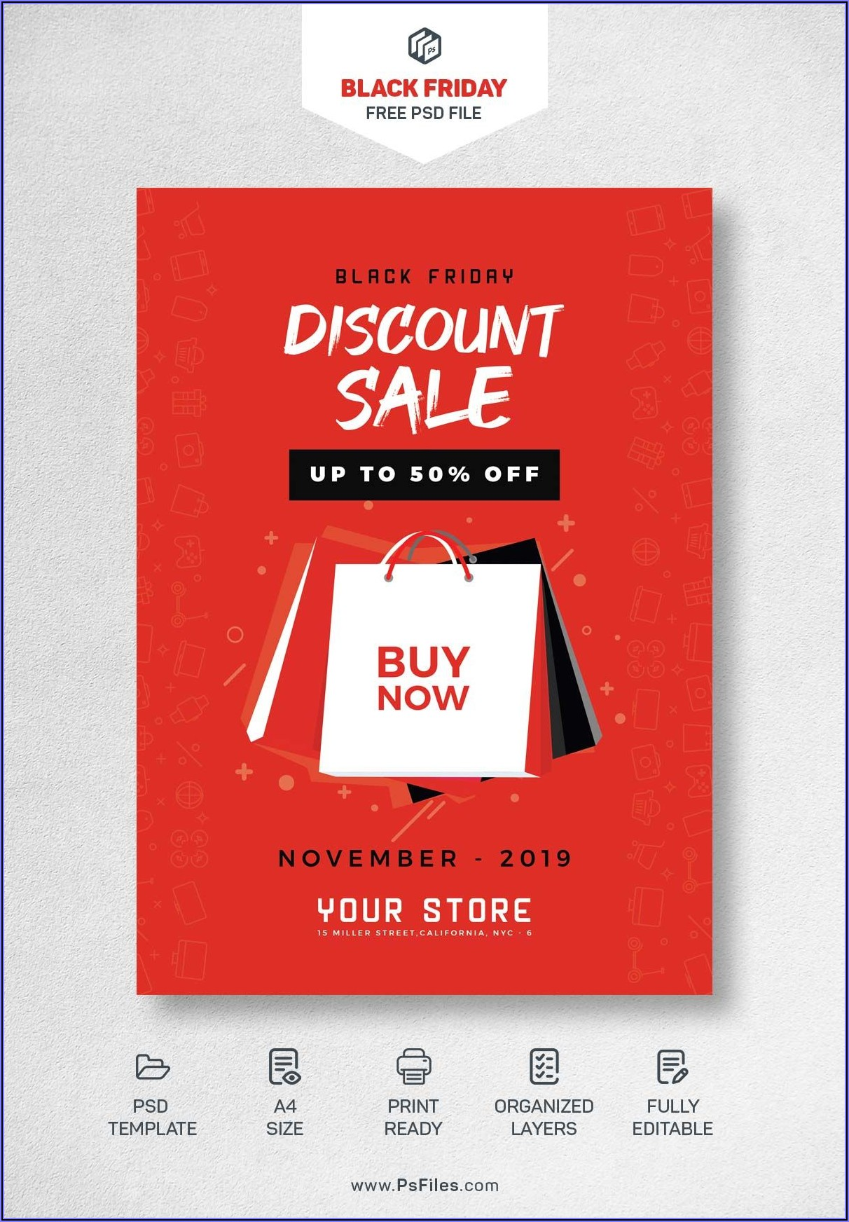 Discount Flyer Template Free