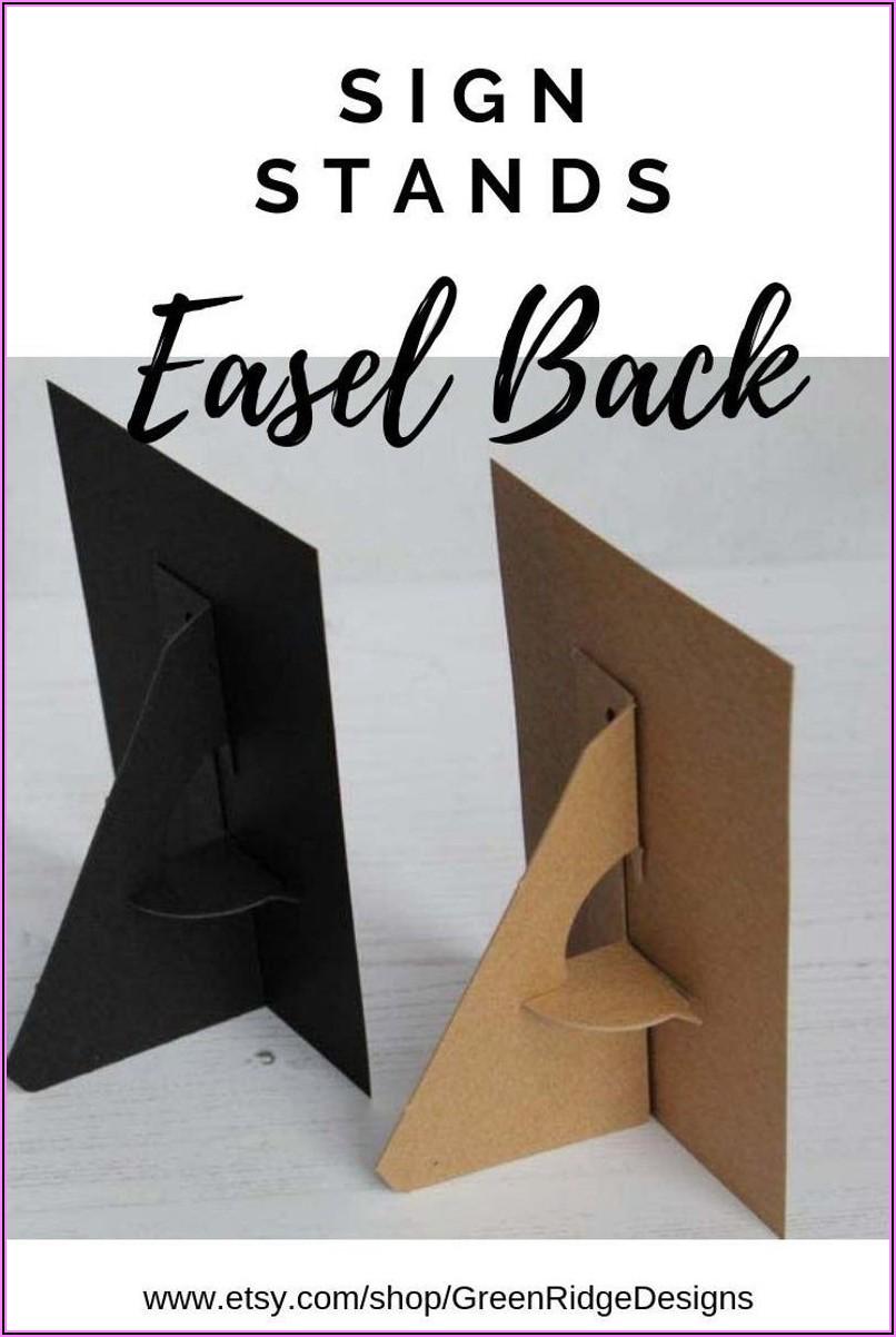 Diy Cardboard Easel Template