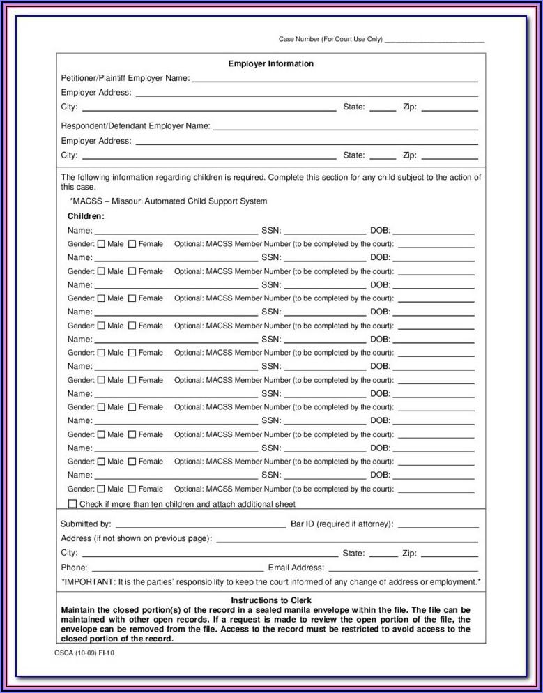 Douglas County Court Forms