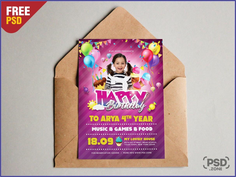 Download Birthday Invitation Card Template