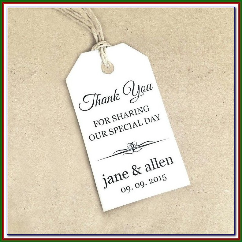 Downloadable Wedding Favor Tags Template Free