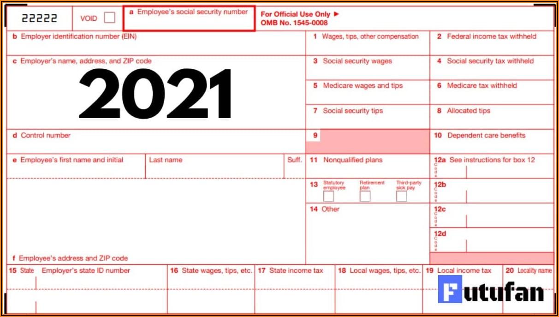 Editable W2 Form 2021