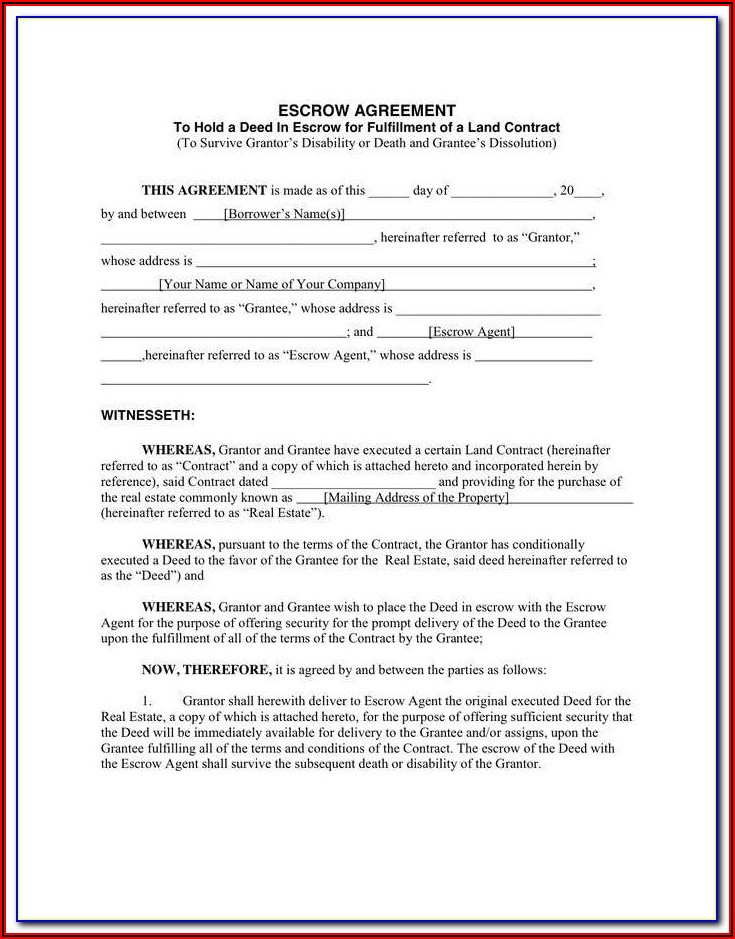 Escrow Agreement Template South Africa