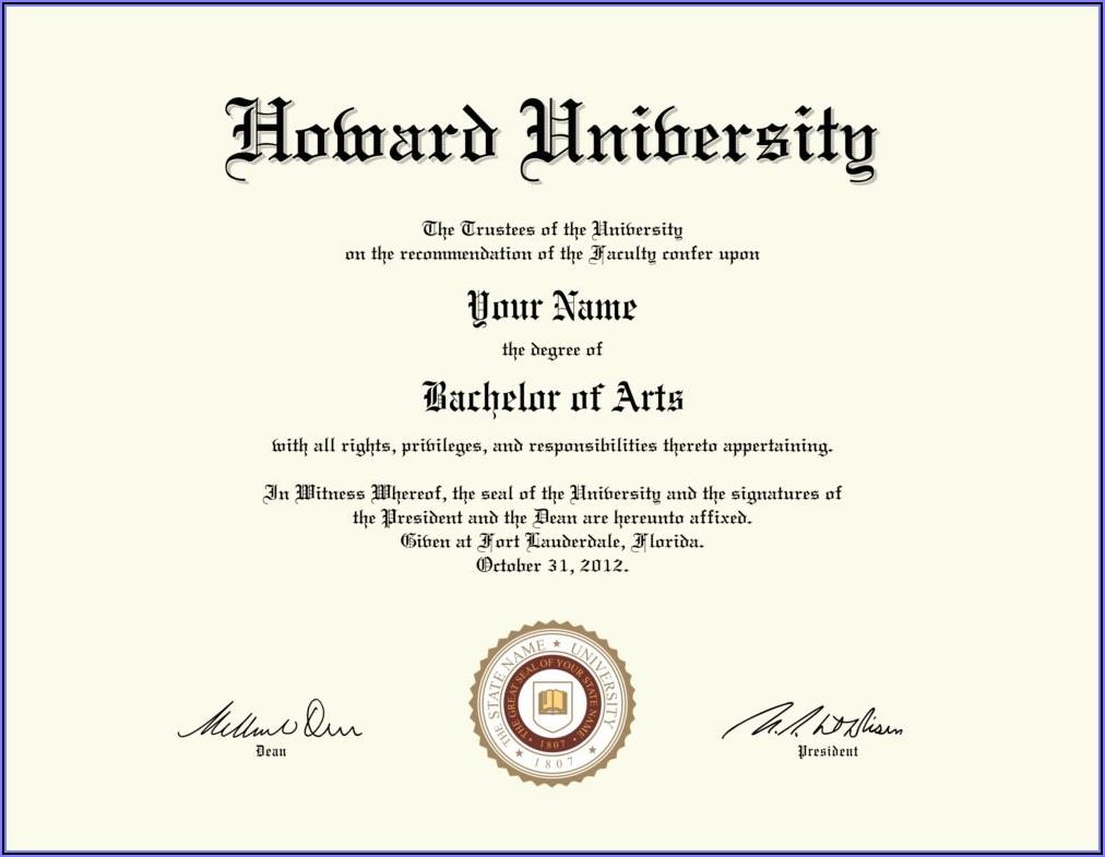 Fake University Degree Template