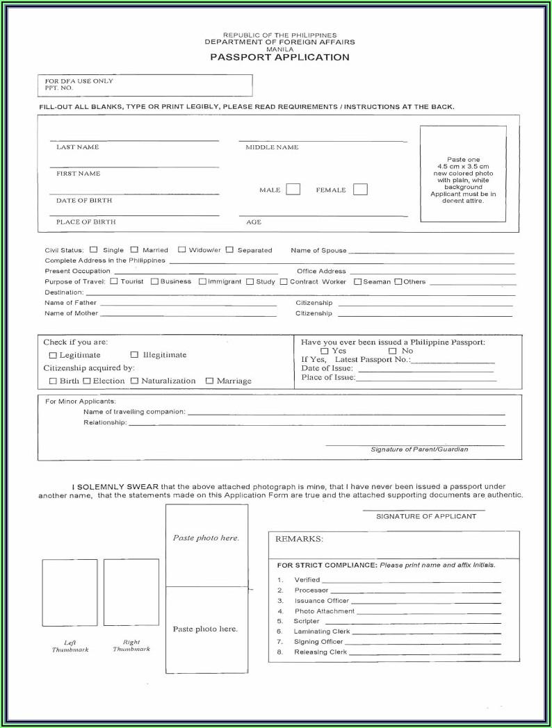 Fiji Immigration Passport Renewal Form